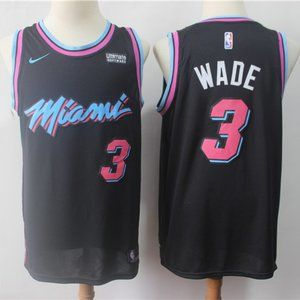 Men's Dwyane Wade #3 Miami Heat Jersey black